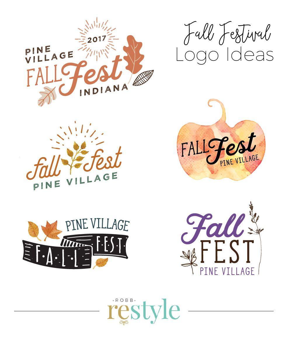 Fall Festival Event Logo Design Ideas by