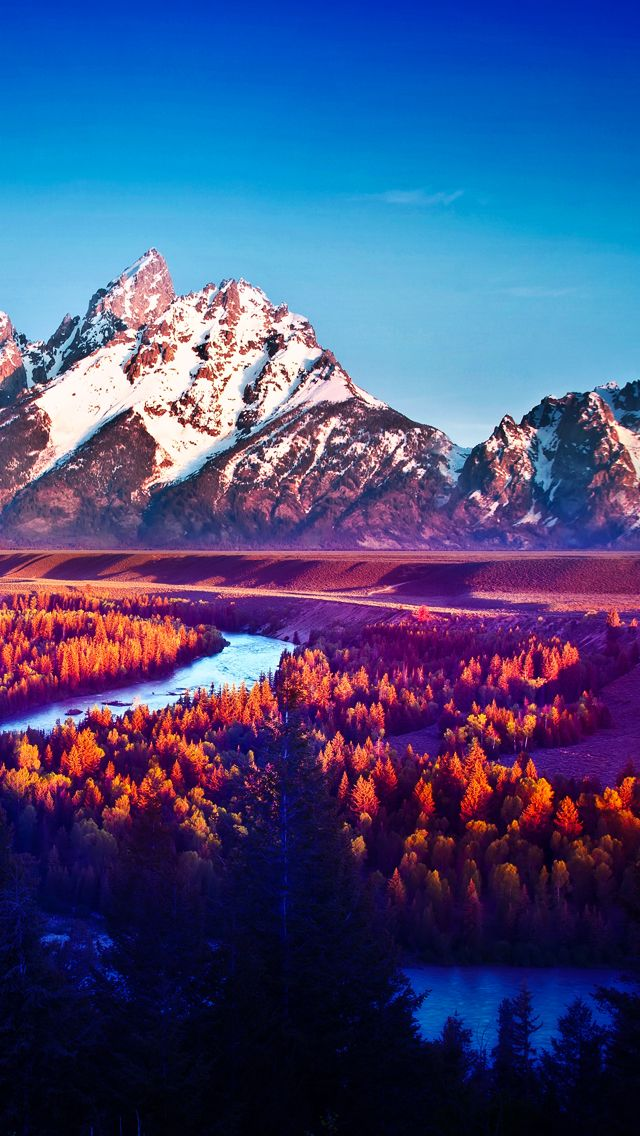 Snake river Mountain Landscape - The iPhone Wallpapers ...