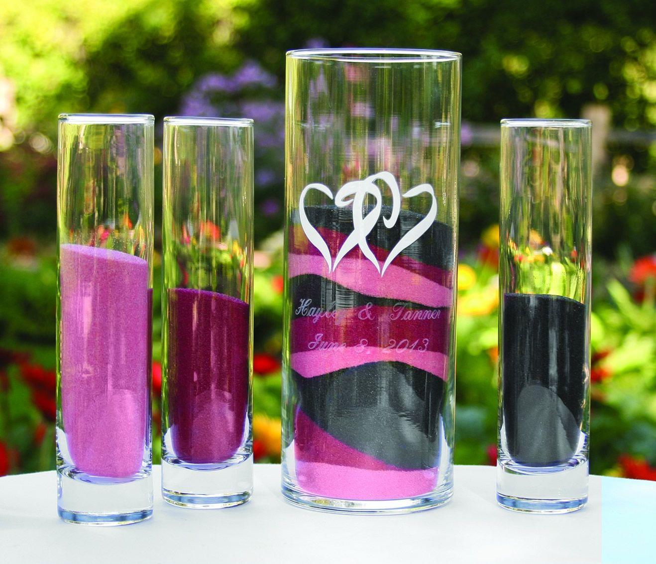 Personalized linked hearts sand ceremony vase romantic wedding personalized linked hearts sand ceremony vase reviewsmspy