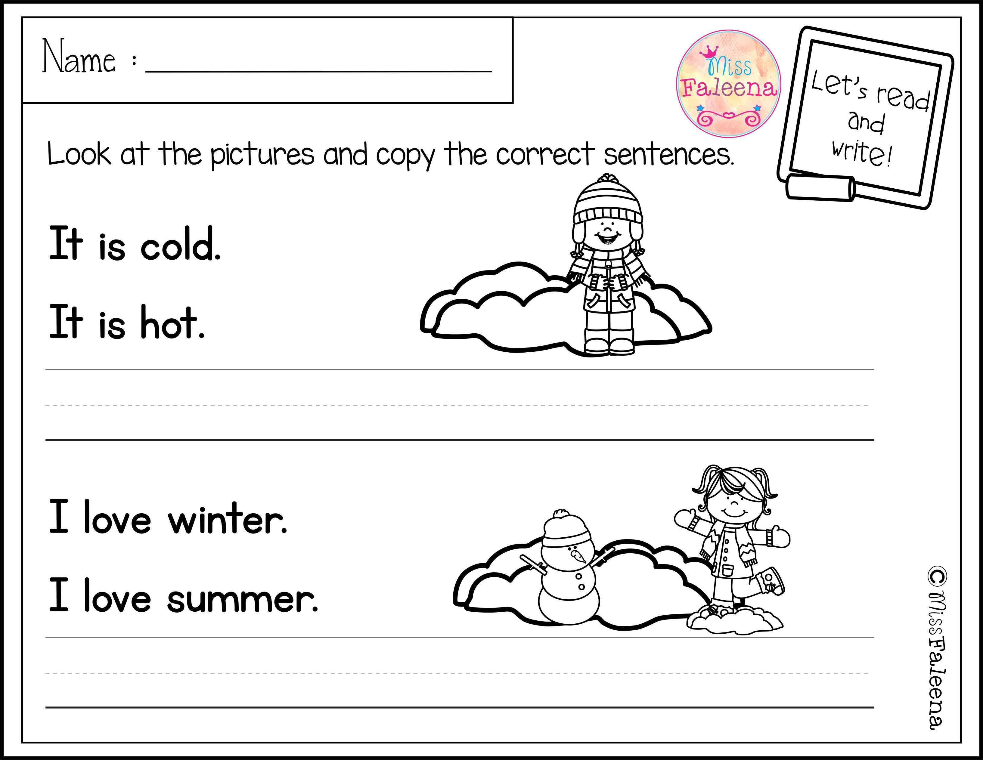 December Sentence Writing Sentence Writing Common Core Kindergarten Reading Writing Skills [ 2526 x 3266 Pixel ]