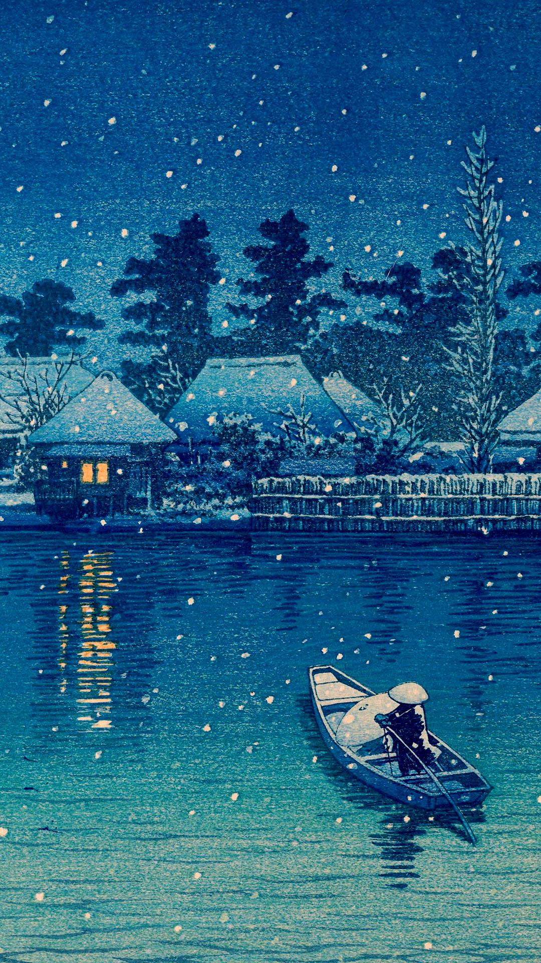 川瀬巴水 牛堀 Kawase Hasui Ushibori 1080 19 壁紙ギャラリー Kagirohi 川瀬 巴 水 ランドスケープアート 日本画