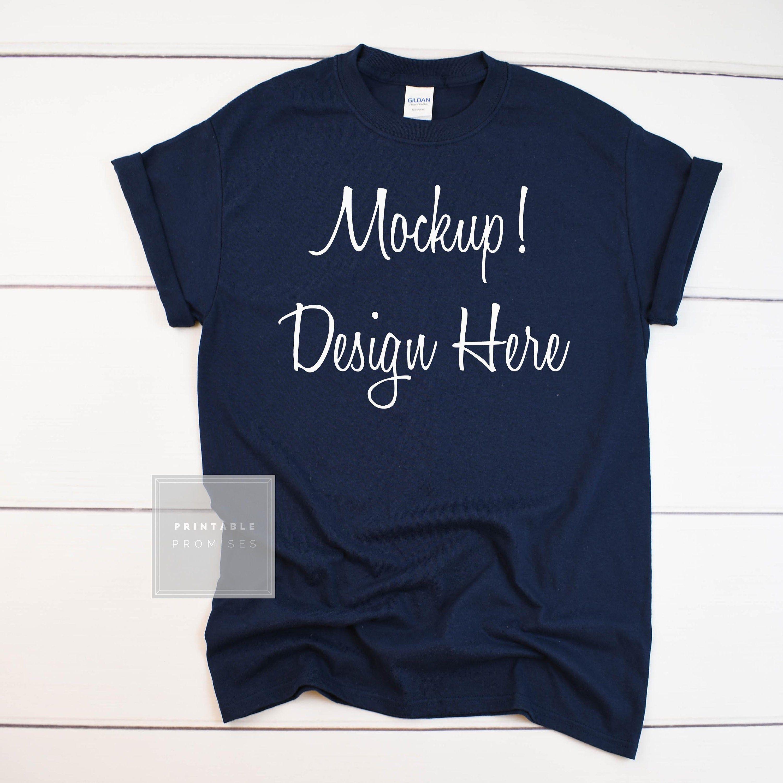 Free Gildan 500 Navy Shirt Flatlay Mockup Navy Shirt Mockup Psd Free Psd Mockups Shirt Mockup Mockup Free Psd Clothing Mockup