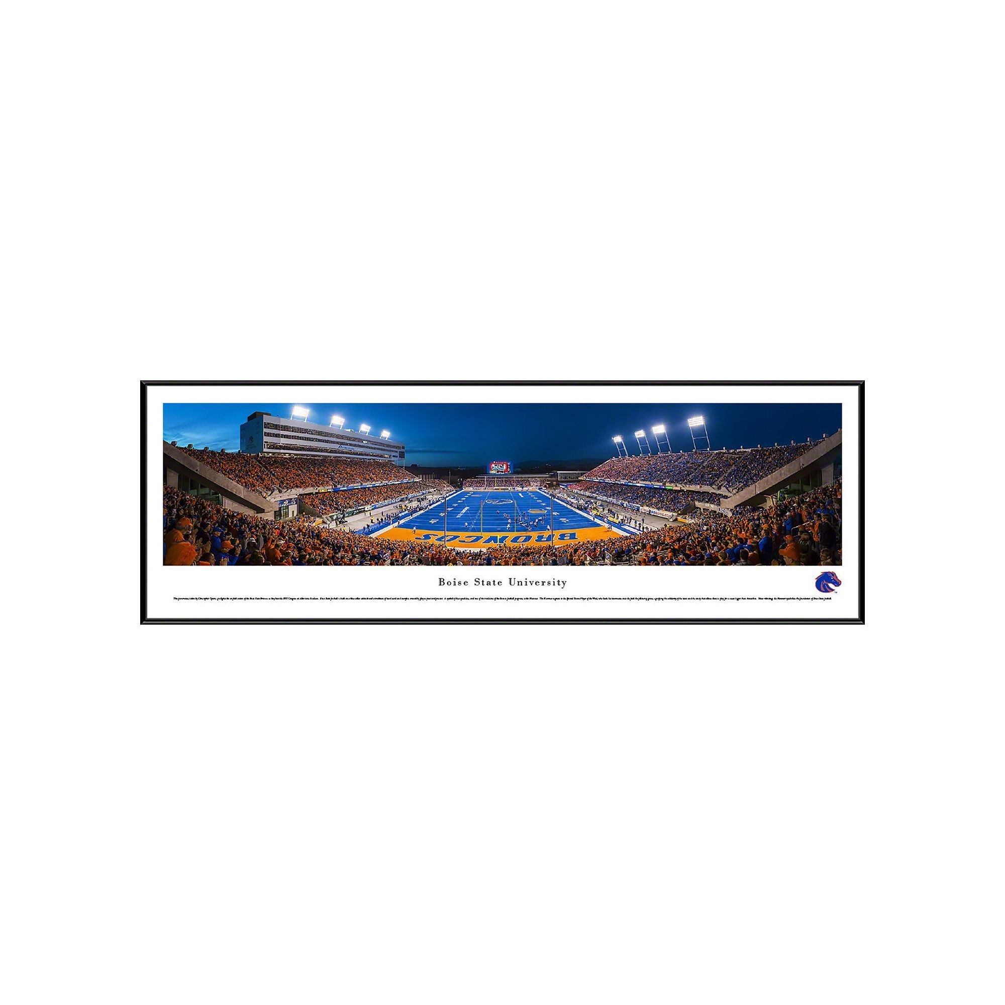 Boise State Broncos Football Stadium Framed Wall Art, Multicolor ...