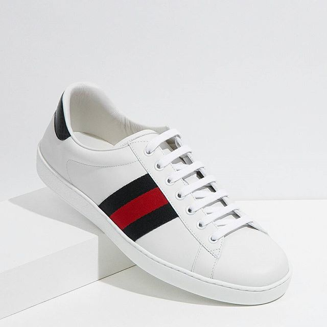 When it comes to sneakers, make these @gucci New Ace Web Trainers your next investment #GUCCI #SNEAKERHEAD #SNEAKERFREAK #TRAINERS
