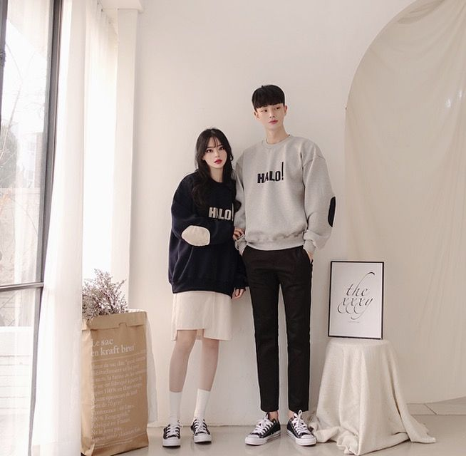 Official Korean Fashion | Matching couple outfits, Korean couple, Couple  outfits
