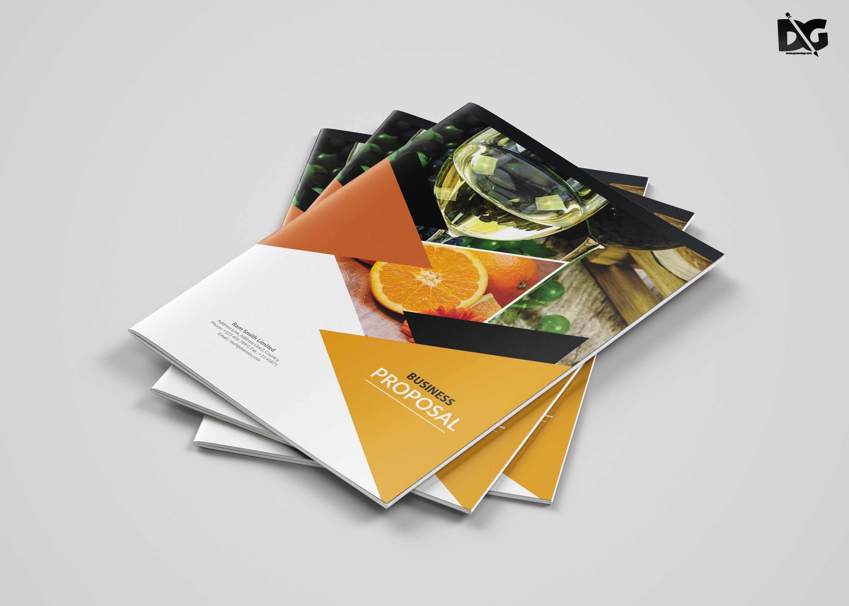 Fruit Store Catalog Brochure Template #Brochure #BrochurePSD