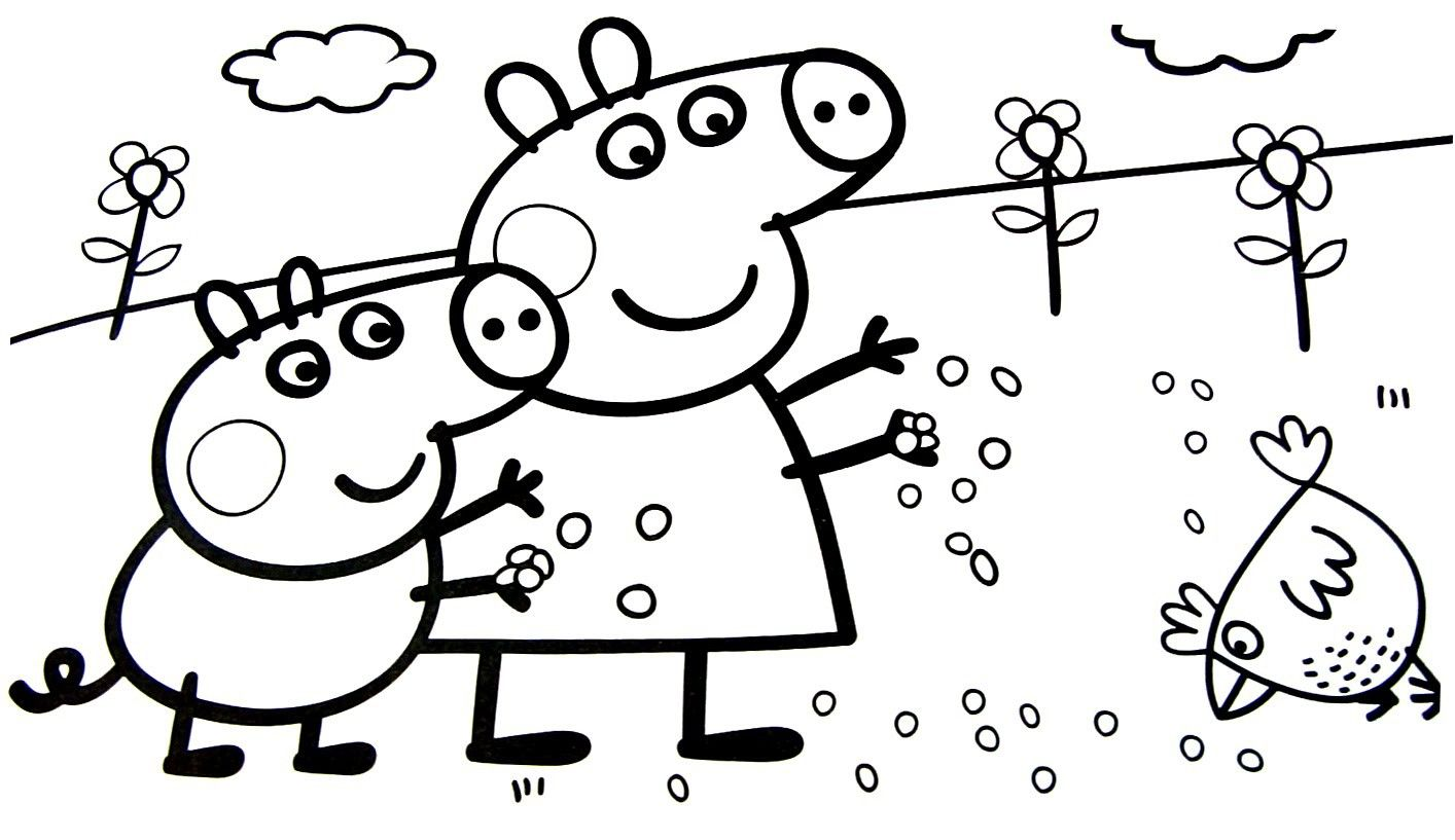 Peppa Pig Spring Coloring Book From The Thousand Pictures Online With Regards To Peppa Pi Peppa Pig Colouring Peppa Pig Coloring Pages Cartoon Coloring Pages
