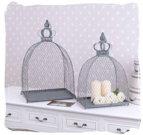 Zwei drahtglocken drahthaube shabby chic vogelkafig deko glocke deco shabby chic shabby - Vogelkafig dekorieren ...