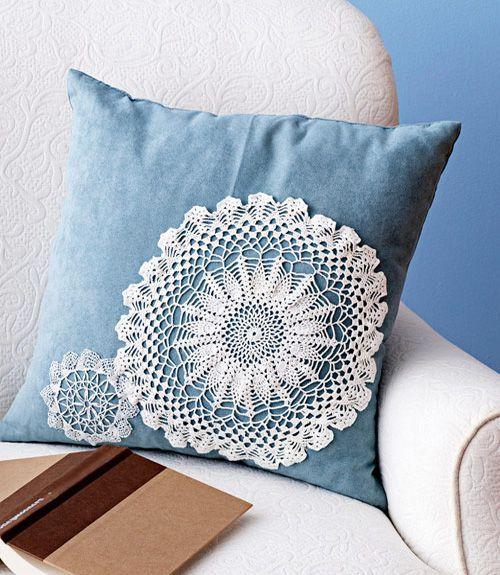Interesting Lace Home Décor Ideas | Designer pillow, Pillow design ...
