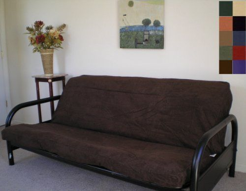 Futon Cover Full Size Bonded Clic Soft Micro Suede Chocolate Brown Heavy Duty