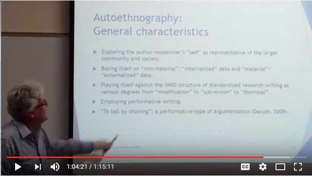 Sughrua William 2015 Characteristic Of Autoethnography From Making The Case For Research Writing Society Author How To Write An Dissertation