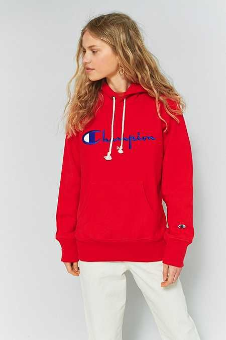 8ed47b59 Champion Red Large Logo Hoodie | hoodies i want in 2019 | Champion ...