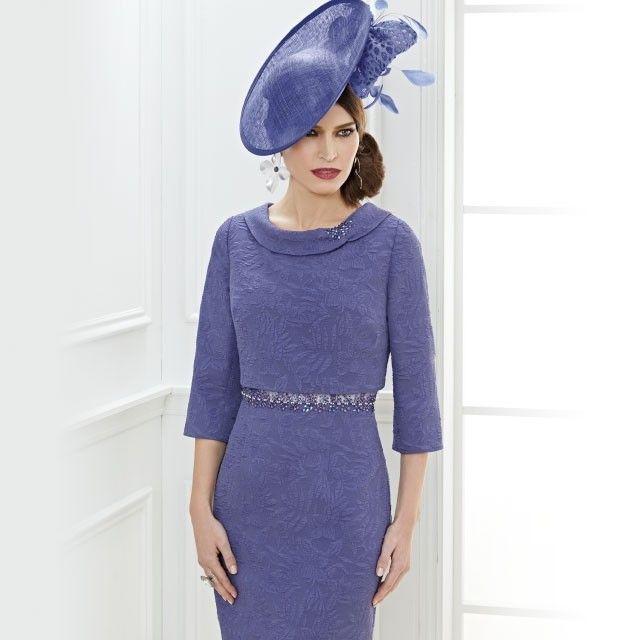 be1aeca80b Zeila Jacquard Flower Design Dress with Bolero Indigo