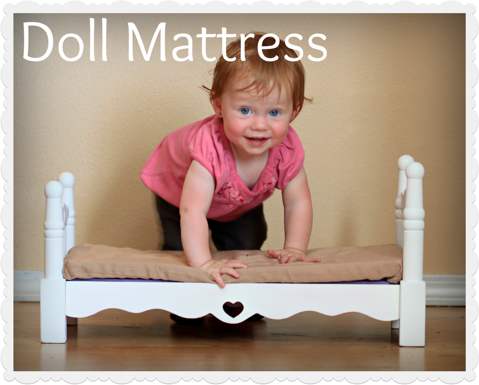 Doll bed mattress tutorial.  This makes a great photography prop.
