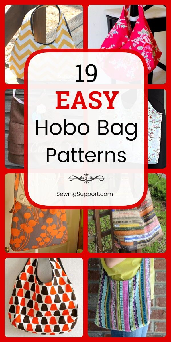 Easy Hobo Bag Patterns (19 Free Designs!)