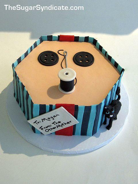 Swell Coraline Birthday Cake Coraline Coraline Toys Cake Funny Birthday Cards Online Inifodamsfinfo