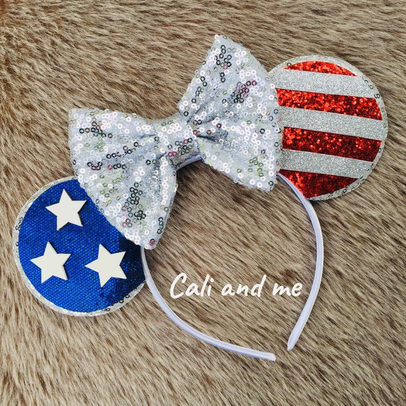 Forth of July Ears 4th of July Ears Minnie Mouse patriotic ears