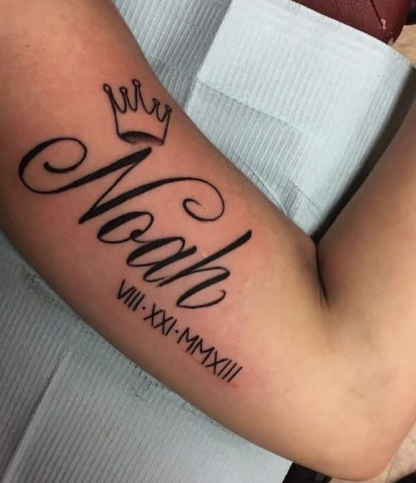 Tatu Baby Father Name: Baby Name Tattoos, Baby Feet Tattoos, Baby
