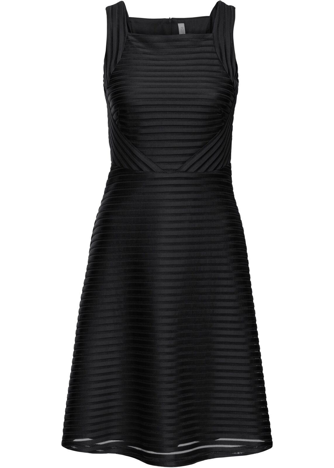 Kleid In Gerippter Optik Gr 42 Schwarz Cocktailkleid Kurzes Partykleid Neu Ebay In 2020 Kurzes Partykleid Elegante Kleider Cocktailkleid