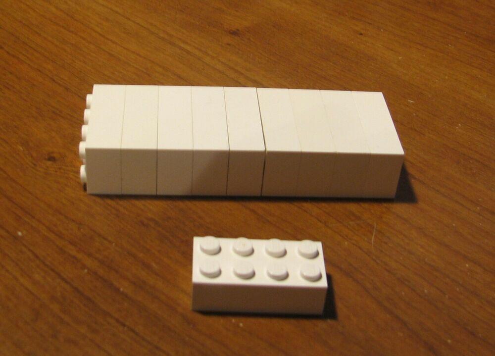 10x LEGO Building bricks blocks 2x4 BLACK 3001