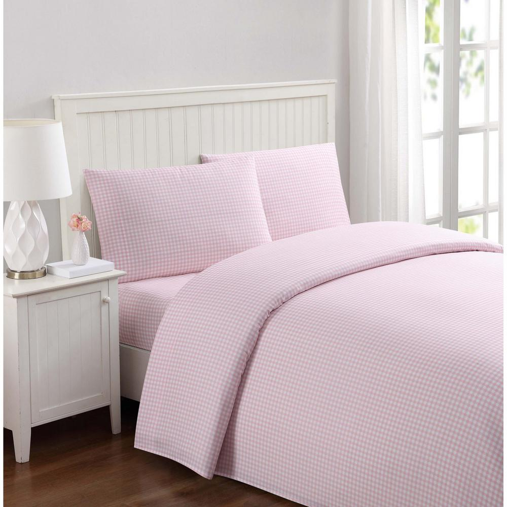 Truly Soft Everyday Gingham Pink Twin Xl Sheet Set Products Twin