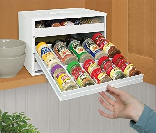 Large Spice Rack Organizer 30 Bottle Jar Shelf Cabinet Holder Kitchen Storage #LargeSpiceRack
