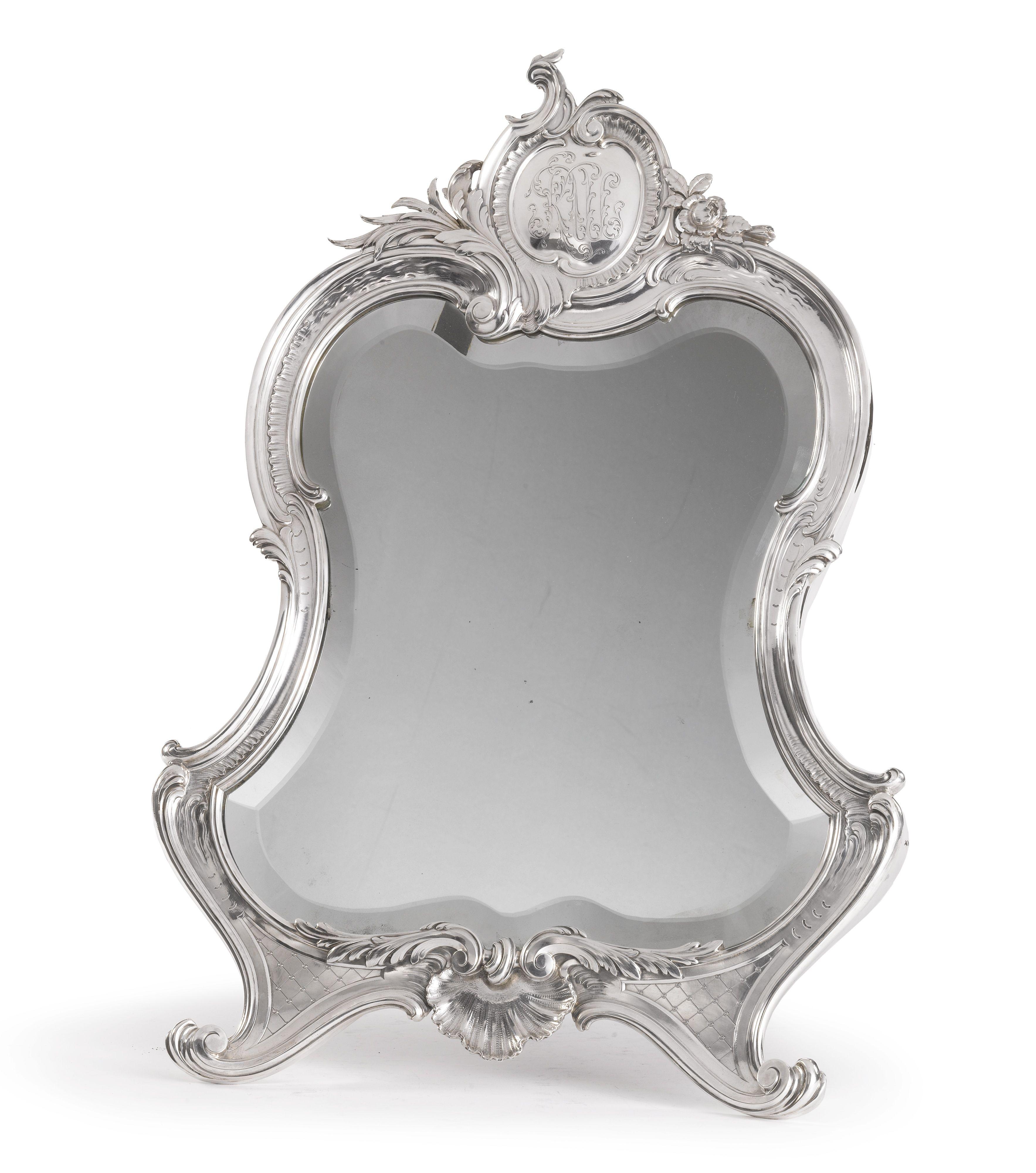 A Faberg 233 Silver Dressing Table Mirror Moscow Circa 1895