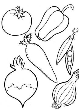 Раскраски Фрукты, овощи, ягоды, грибы, скачать и ...