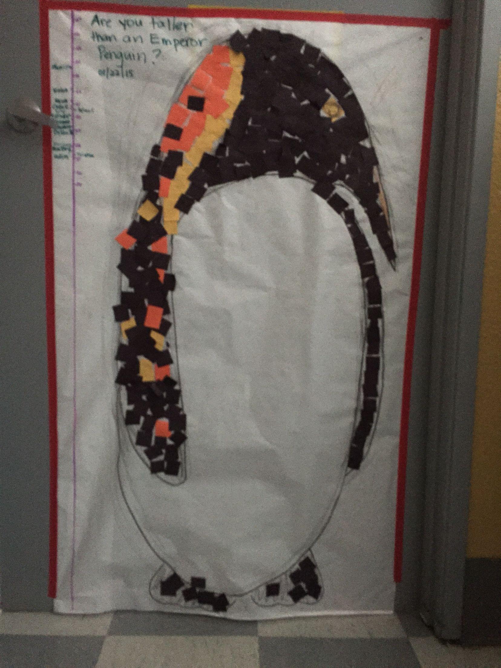 Emperor penguin height chart also school arts and crafts pinterest rh