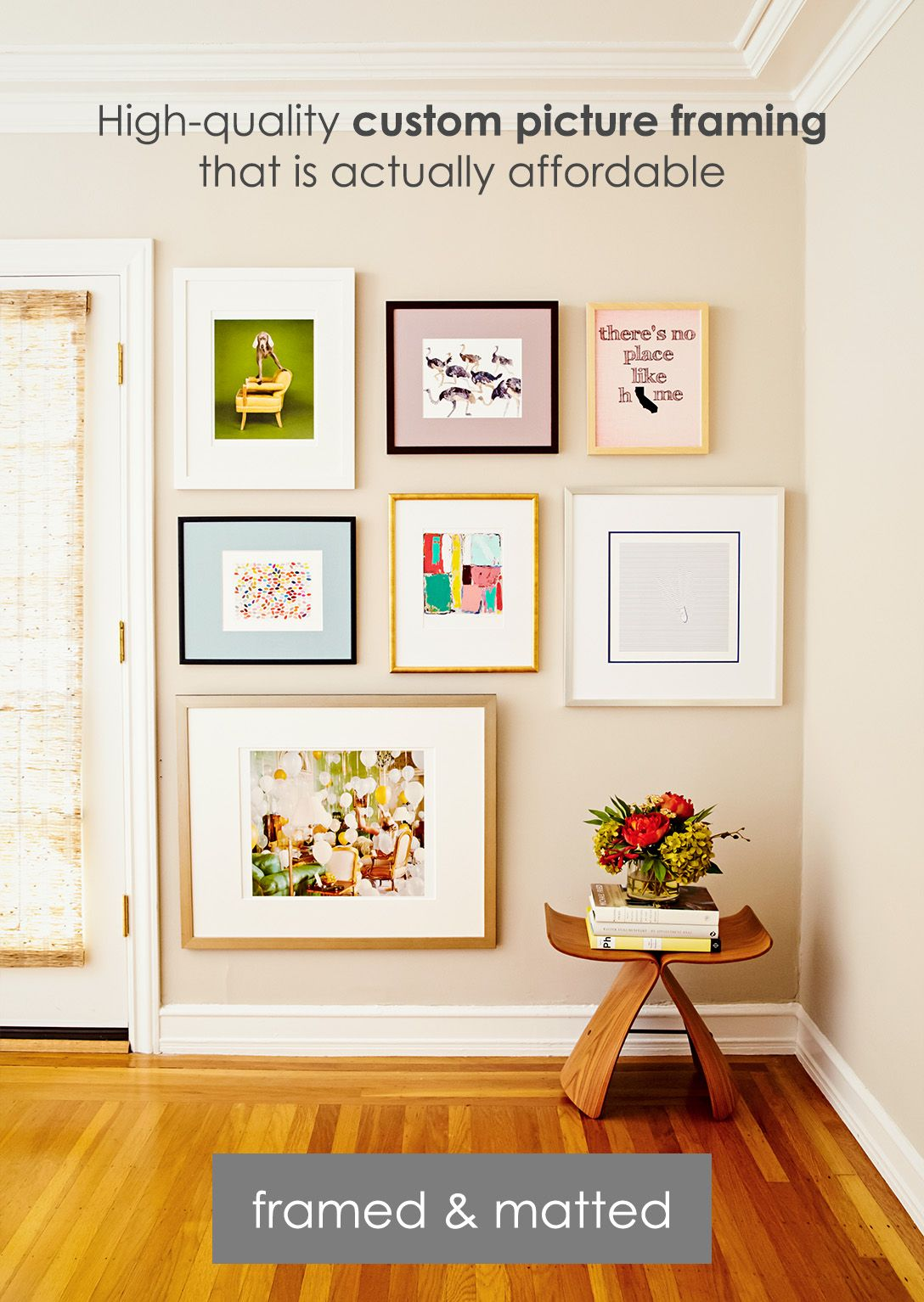 Find the perfect custom picture frame to fit your style art