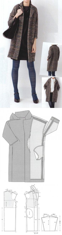 Выкройки пальто простые выкройки своими руками