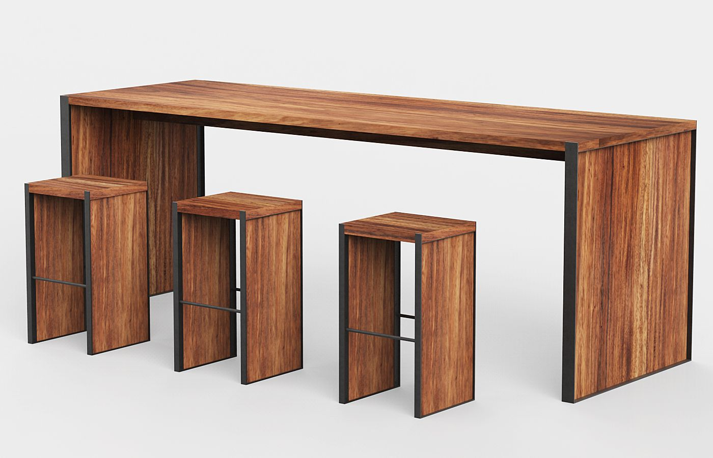 Modern Wooden Bar Tables Set Pinterest