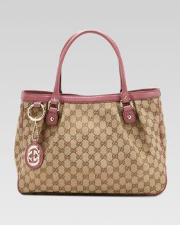 24b42e8c5460 Gucci Sukey Medium Original GG Canvas Top-Handle Tote, Soft Rose ...
