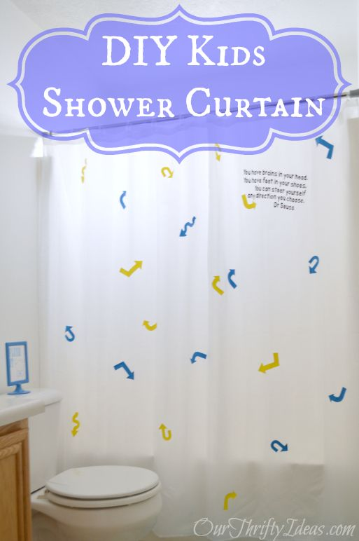 DIY Shower Curtain for Children | Cricut Ideas from Bloggers and ...