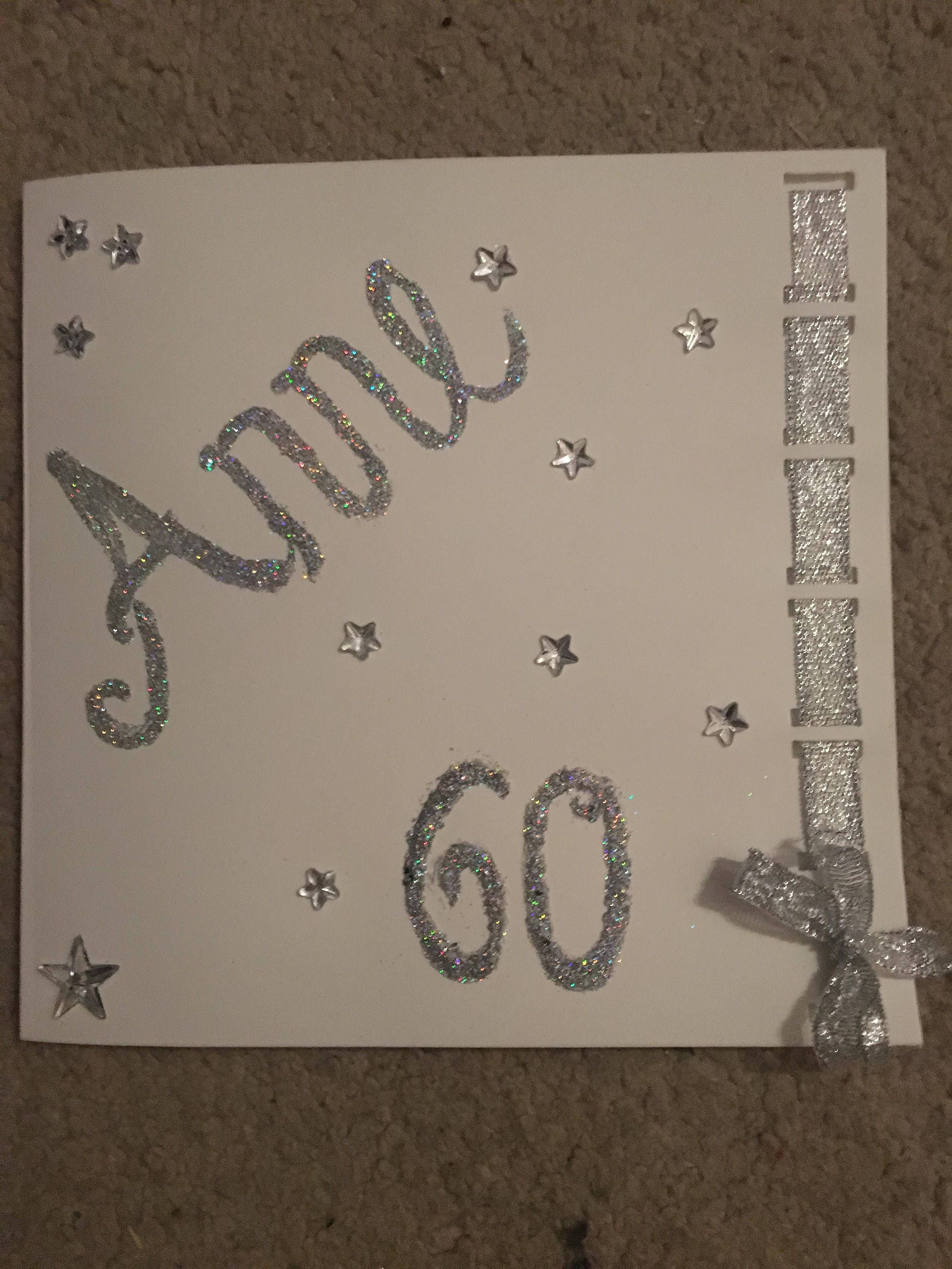 Milestone birthday card for mum mom dad daddy or any name