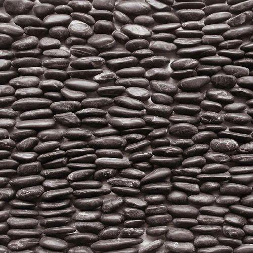 "Decorative Stone Wall Tiles Solistone 15Pack 4"" X 12"" Standing Decorative Pebbles Black"