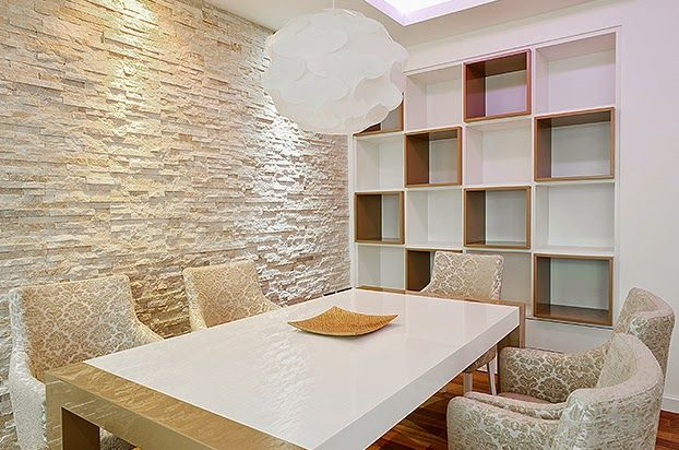 Pedras decorativas pastilhas e porcelanato na fachada e - Paredes decorativas interiores ...