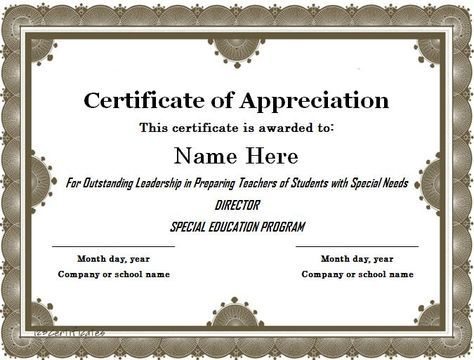 We Collected  Free Certificate Of Appreciation Templates And