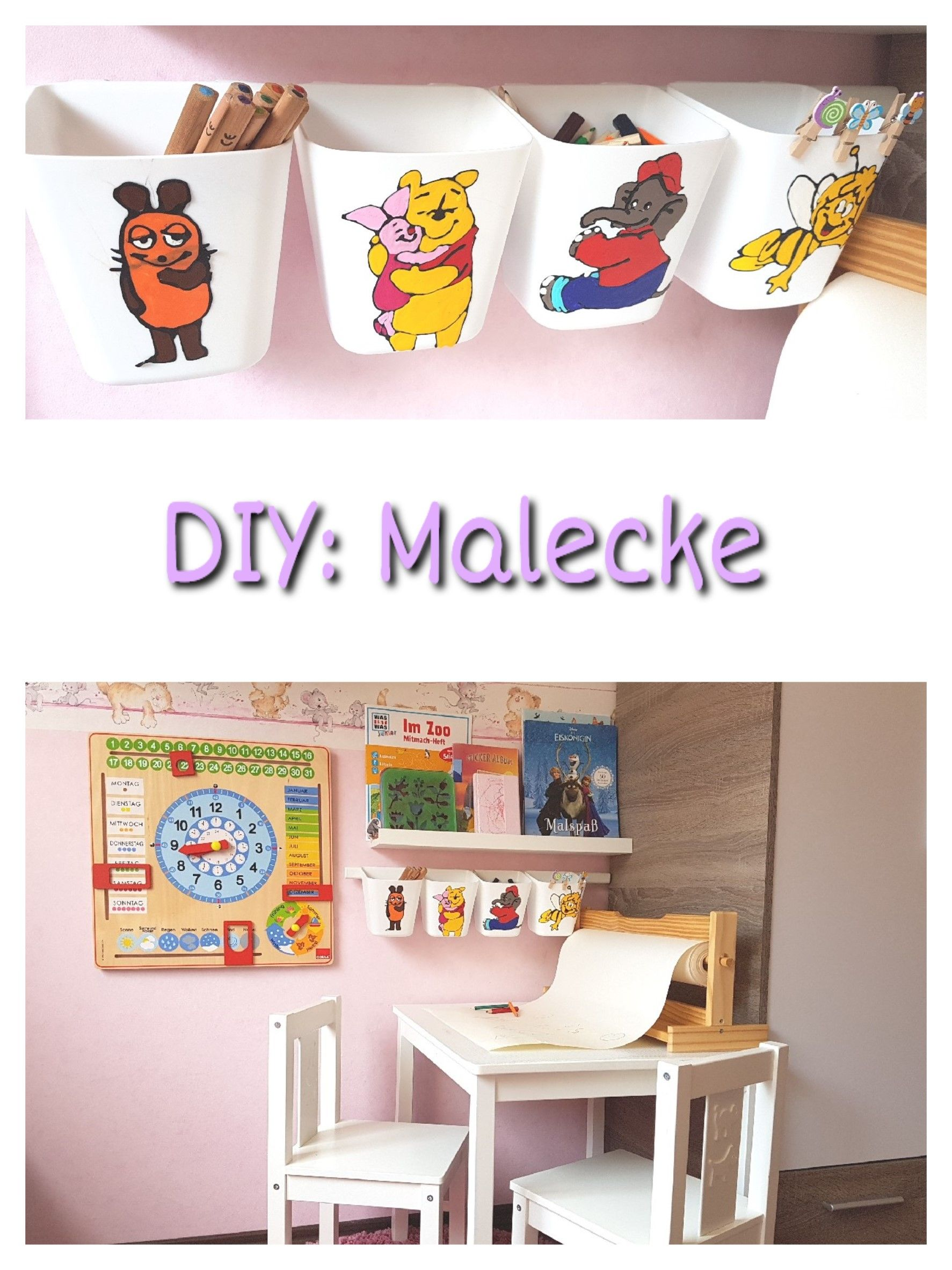 DIY, selber machen, Malecke, Kinderzimmer, Familie, Ikea, kreativ ...