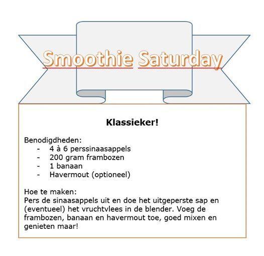 Een heerlijk klassiek #smoothie recept met Frambozen, banaan, sinaasappels en havermout.
