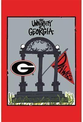 Georgia Bulldog Arch Flag