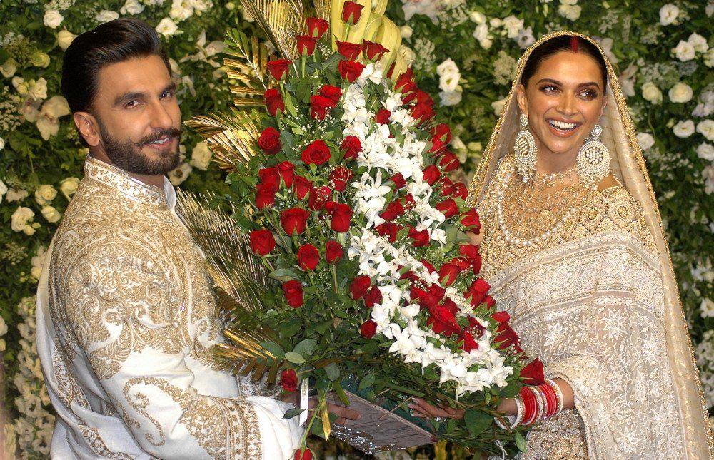 Deepika Padukone with Ranveer Singh during their Wedding ...
