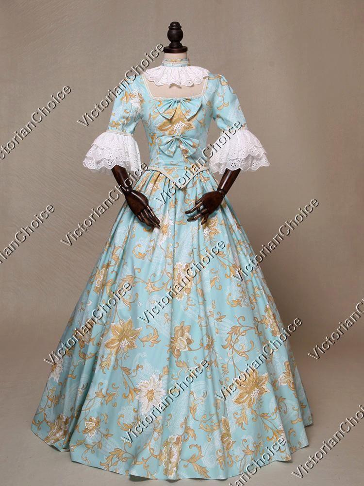 Renaissance Colonial Princess Alice in Wonderland Ball Gown Dress ...