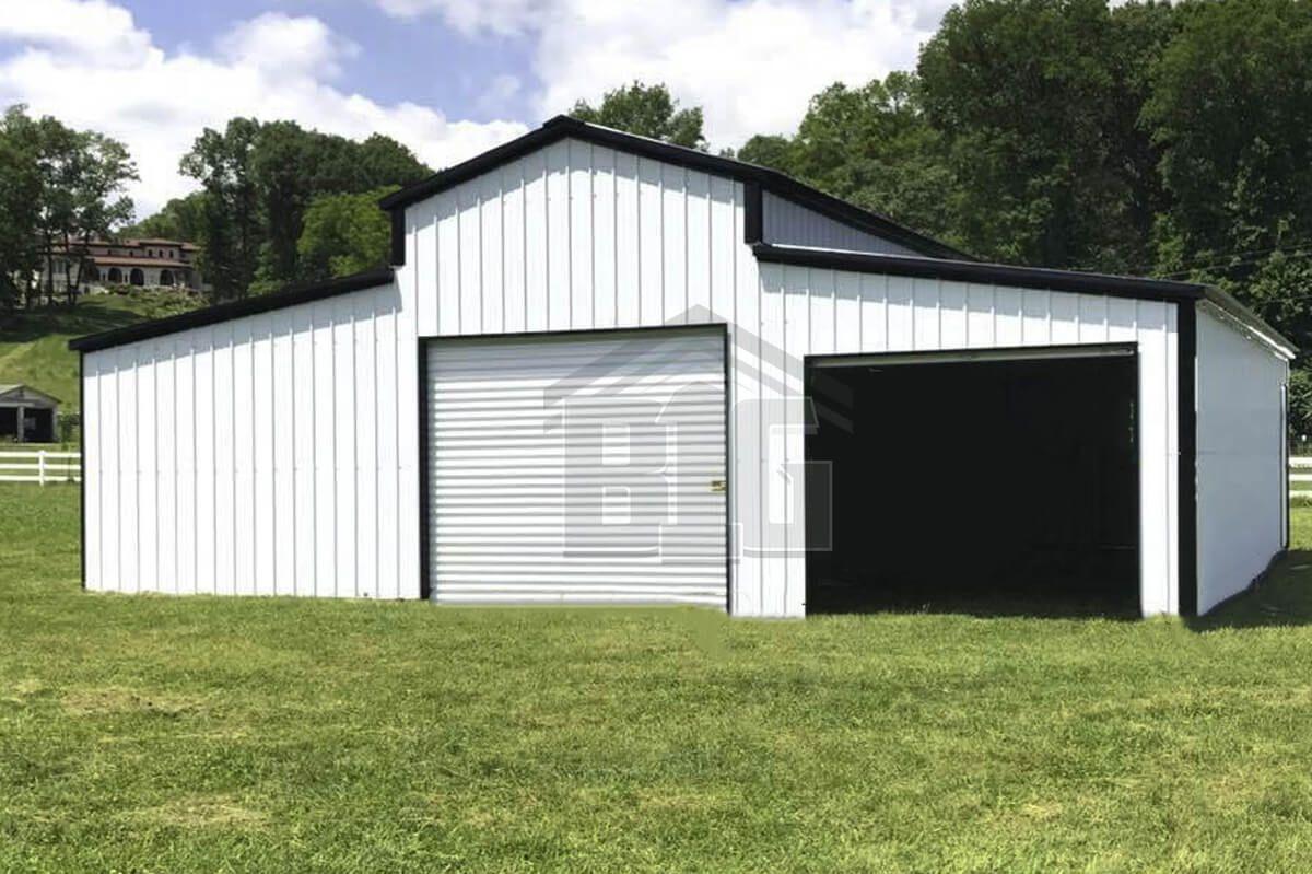 The Norris 36x25x12 8 Gable Roof Design Garage Door Framing Big Building