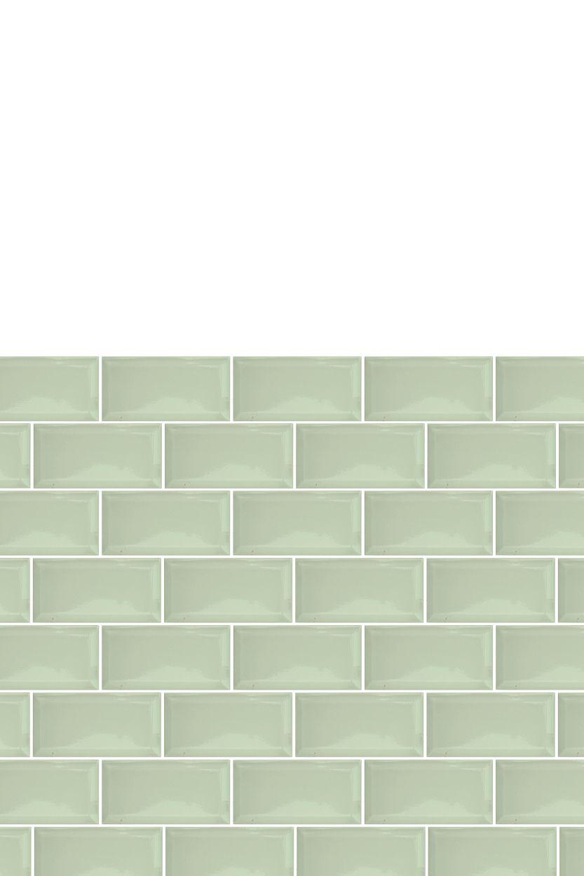 Cactus Bevelled Sage Crackle Glaze Retro Metro Tiles London Tile Co Metro Tiles Green Subway Tile Green Backsplash