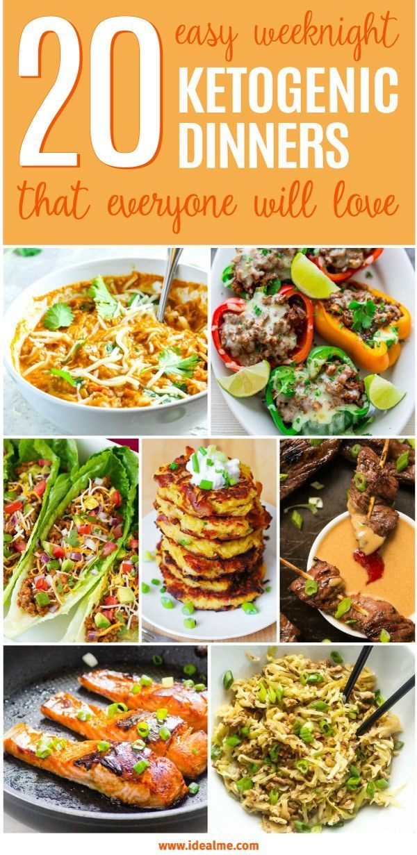 Easy Weeknight Ketogenic Dinners That Everyone Will Love Here are 20 delicious and easy weeknight ketogenic dinners that will help to get you on the path of health and weight loss.Here are 20 delicious and easy weeknight ketogenic dinners that will help to get you on the path of health and weight loss.