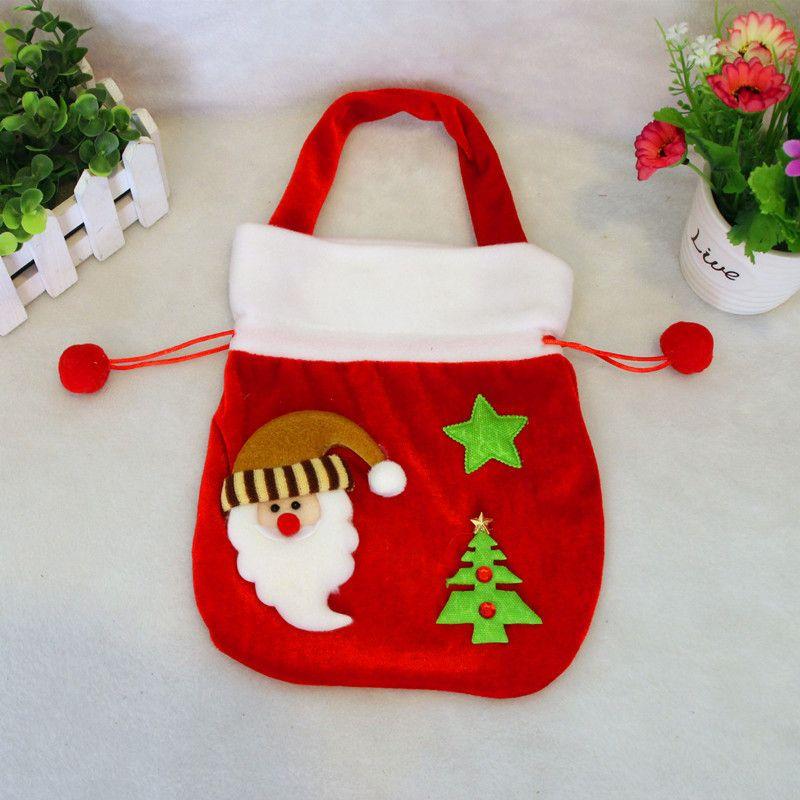 el nuevo alta calidad del terciopelo del oro navidad adornos de navidad de santa claus bolsas