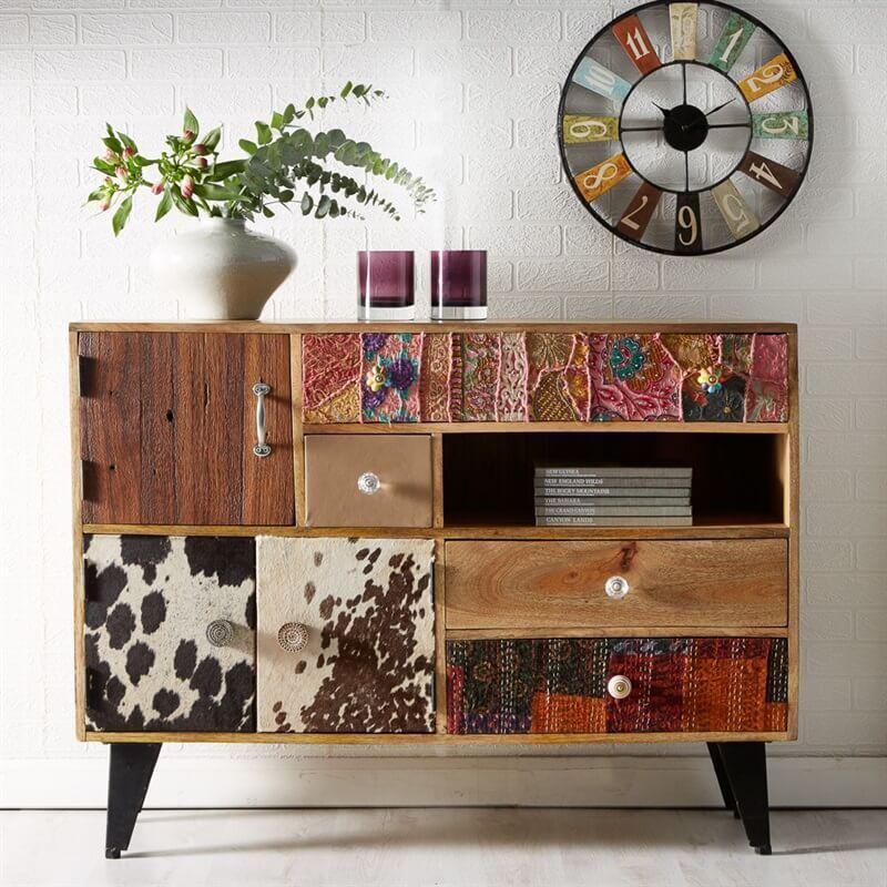 Sorio Large 4 Drawer Sideboard Retro Vintage Handmade Wood Furniture Ebay Reclaimed Wood Furniture Reclaimed Furniture Reclaimed Wood Sideboard