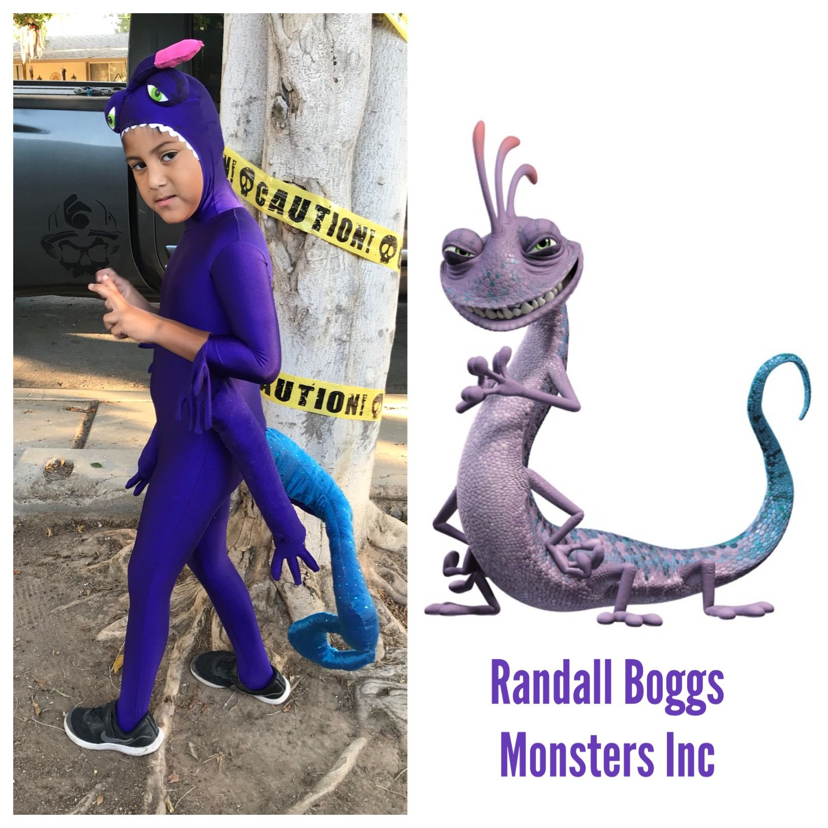 Randall Boggs From Monsters Inc Handmade Costume Made By My Mom Using A Pre Made Mo Monster Inc Costumes Monsters Inc Halloween Costumes Monsters Inc Halloween