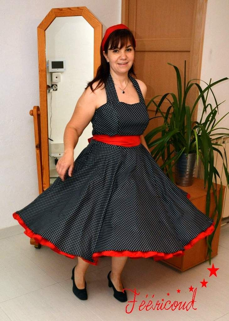 8f7b2090e303d Robe rockabilly | Couture patrons | Robes rockabilly, Robe et Rockabilly